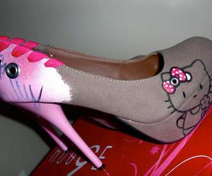 shoes, heels, and hello kitty image