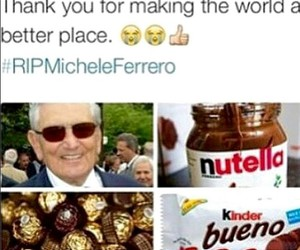 nutella, rip, and michele ferrero image