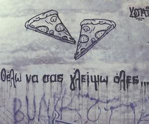 food, funny, and grafitti image