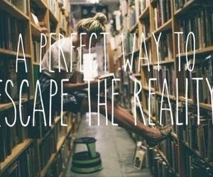 book, escape, and reading image