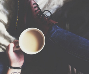 coffee, grunge, and boots image