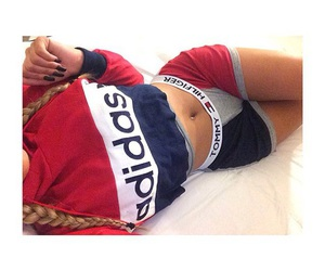 adidas, hair, and tommy hilfiger image