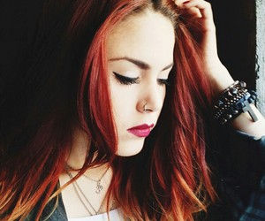 fashion, red hair, and luanna image