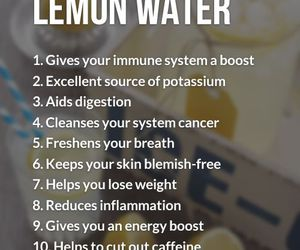 lemon, water, and benefit image