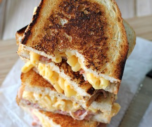 food, sandwich, and cheesy image