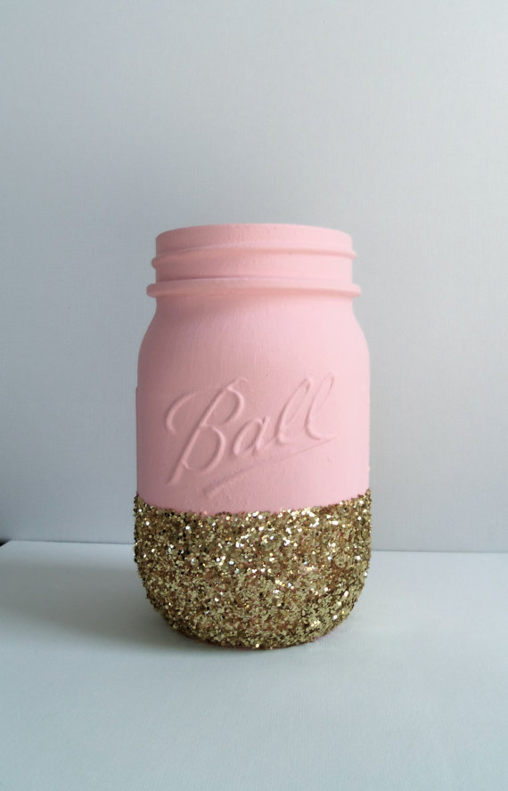Beautiful Pink Mason Jar Decorating For Weddings for Small ...