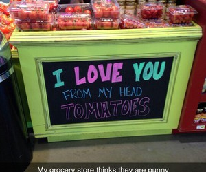 funny, puns, and tomatoes image