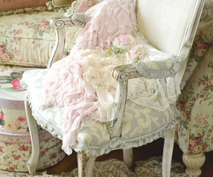 chair, shabby chic, and white image