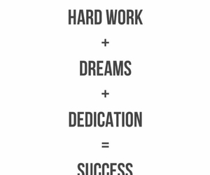 Dream, dedication, and quote image