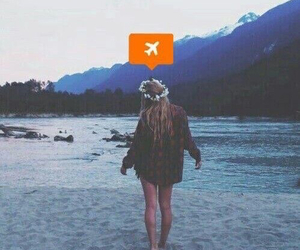 girl, travel, and grunge image