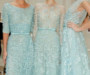 dress, blue, and elie saab image