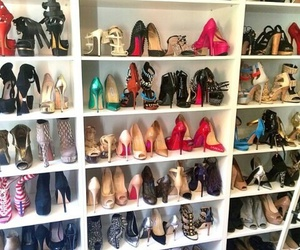 christian louboutin, closet, and heels image