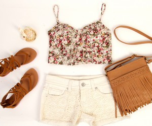 classy, floral, and fashion image