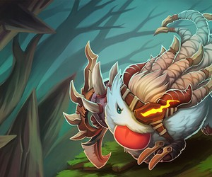 league of legends, poro, and rengar image