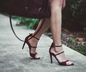 girl, heels, and red image