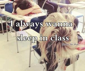 sleep, school, and class image