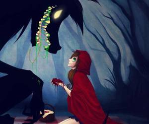 red riding hood and anime image