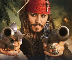 johnny depp, pirate, and jack sparrow image