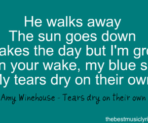 Amy Winehouse, he, and Lyrics image