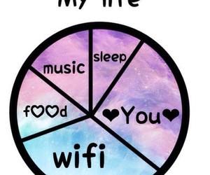 food, music, and wifi image