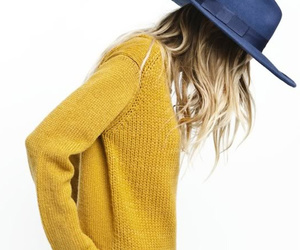 editorial, mustard, and model image