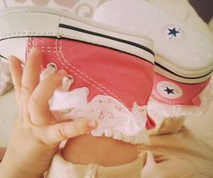 baby, converse, and pink image