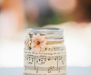 flowers, music, and jar image