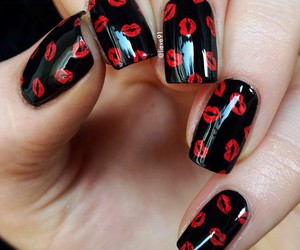 black, nails, and gorgeous image