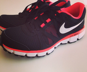 black shoes, nike, and run image