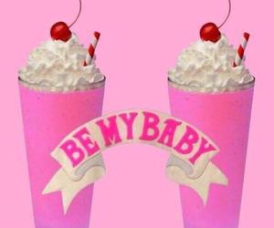 pink, baby, and milkshake image