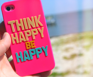 happy, pink, and think image