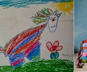 children's, drawings, and stripes image