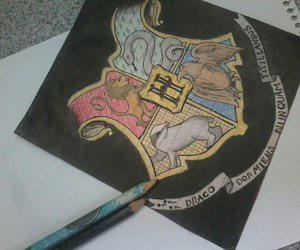 drawing, draws, and harry potter image