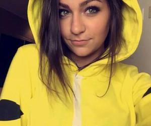 beautiful, yellow, and brunette image