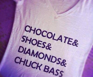 chuck bass, chocolate, and shoes image