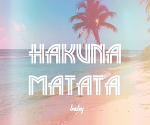 hakuna matata, beach, and summer image