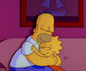abrazo, lisa, and the simpsons image