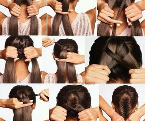 diy, hair, and trança image