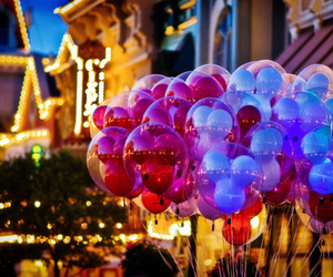 balloons, disney, and light image