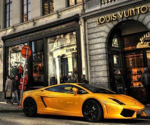 car, Louis Vuitton, and yellow image