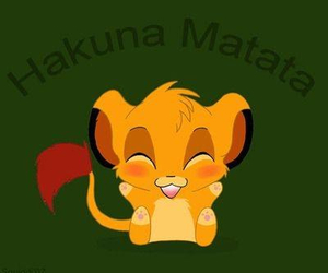 hakuna matata, disney, and lion image