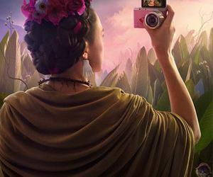 art, frida kahlo, and selfie image