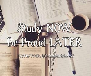 proud, school, and study image