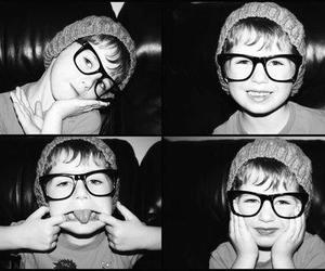 child, glasses, and hat image