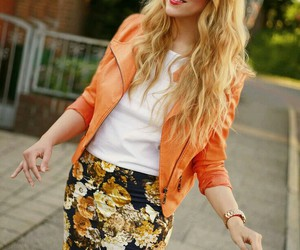 chic, floral, and fashion image