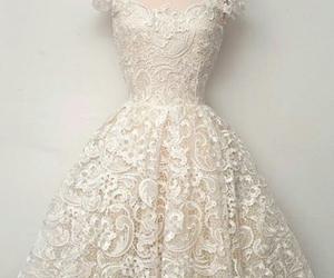 dress, elegant, and ivory image
