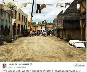 johnny depp, pirates of the caribbean, and jerry bruckheimer image