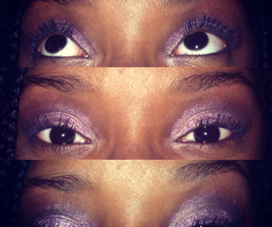 eye, eyebrows, and purple image