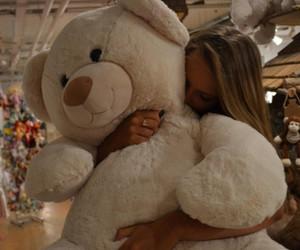 girl, teddybear, and cute image
