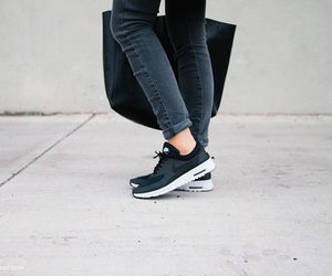 black, fashion, and nike image